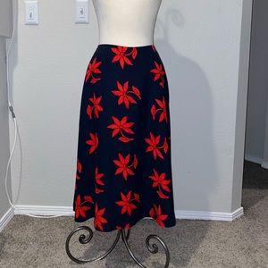 Banana Republic floral skirt